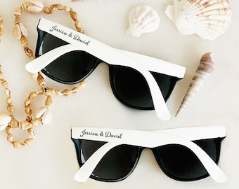 eaf6f8203ac Summer Wedding Favors Outdoor Wedding Sunglasses Personalized Sunglasses  Beach Theme Favors Destination Wedding Favors (EB3107) - SET of 24