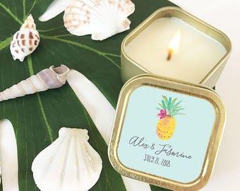 Pineapple Party Favor Candles - Pineapple Bachelorette - Tropical Wedding  Favors - Beach Wedding Favors Bridal Shower (EB3211TPB) - 12 670050bedf