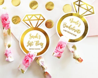 Bridesmaid Hair Ties To Have and to Hold Your Hair Back Hair Tie Cards Hair Tie Favors Personalized Bridesmaid Favors (EB3182P)