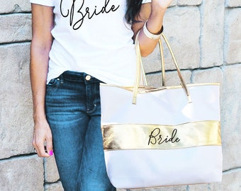 bride tote bag bride bag bride to be gift bride gift ideas bridal shower gift bride gift from maid of honor eb3175bpw