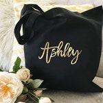 Bridesmaid Bag Bridesmaid Gift Bag Bachelorette Party Bags Bridesmaid Name Bag Maid of Honor Bag Maid of Honor Gift Bag  (EB3216CT)