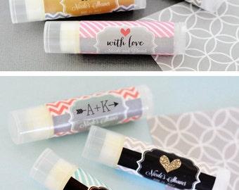 personalized chapstick bridal shower lip balm favors unique bridal shower favors personalized lip balm w labels eb3031t 16 pcs