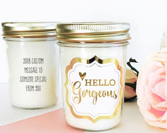 Hello Gorgeous Candle Best Friend Birthday Gift Cheer Up Cute For EB3178FT