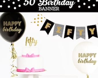 Happy 50th Birthday Banner