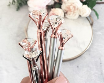 gold desktop accessories modern girl office kate spade rose gold desk accessories pen diamond pens cute pretty office gifts boss supplies eb3303np gifts etsy