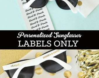 539948e15723 Sunglasses LABELS ONLY (EB3120) - Set of 48| CLEAR labels with personalized  text