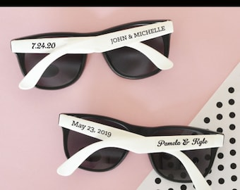 1874fb2c5e Beach Theme Wedding Favors Beach Theme Bridal Shower Favors Personalized  Sunglasses Sunglass Favors (EB3107) - SET of 24