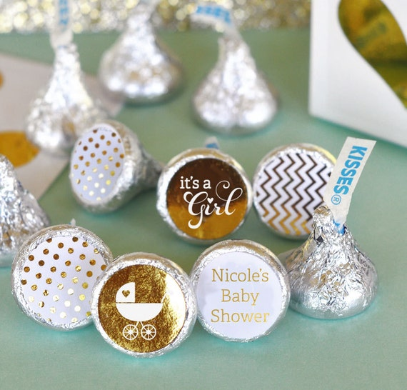 Baby Shower Hershey Kiss Sticker Kiss Labels Personalized Etsy