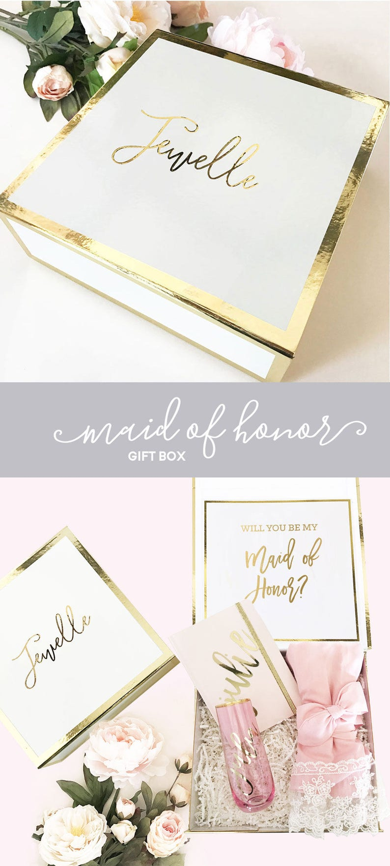 Maid of Honor Proposal Box Will You Be My Maid of Honor Box image 0