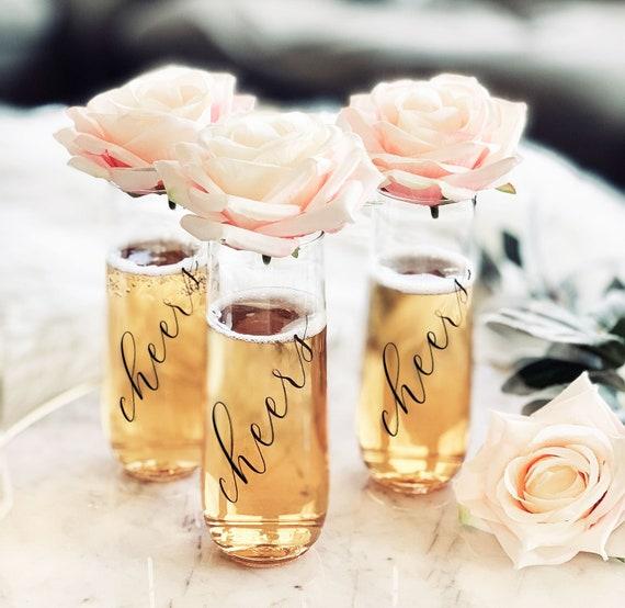 Bachelorette Party Cups Bridesmaid Champagne Flutes Wedding