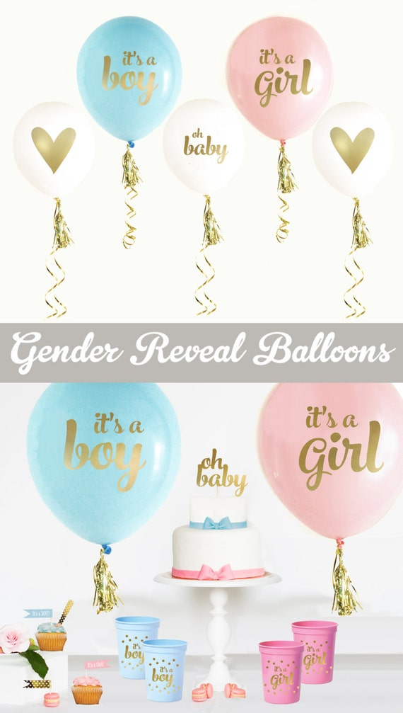 Gender Reveal Balloons Gender Reveal Ideas Gender Reveal Etsy
