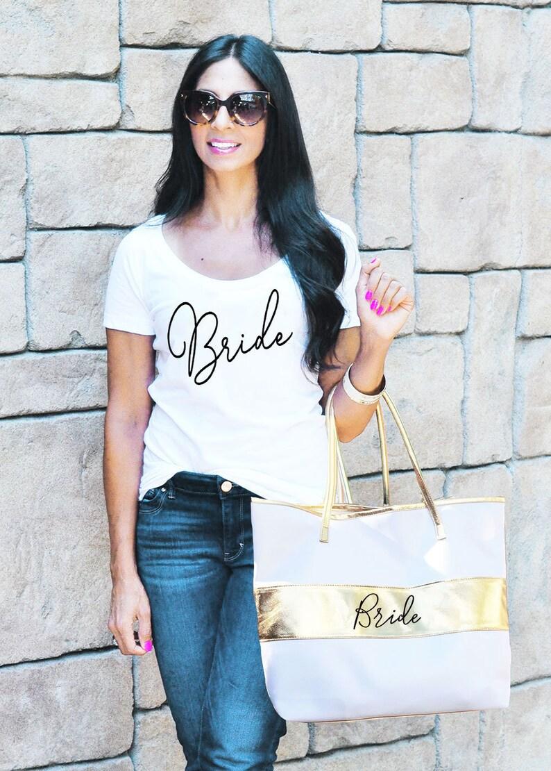 Bride Tote Bag Bride Bag Bride to Be Gift Bride Gift Ideas image 0