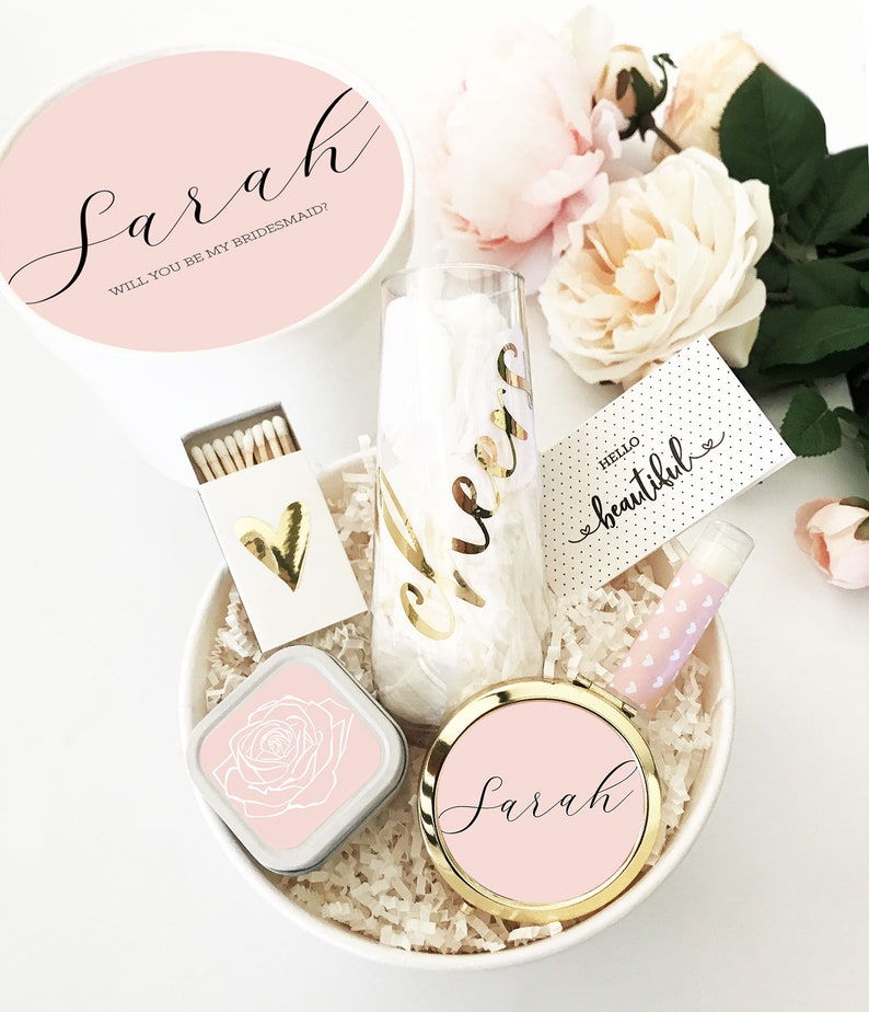 Pink Bridesmaid Box Blush Bridesmaid Proposal Will You Be My image 0