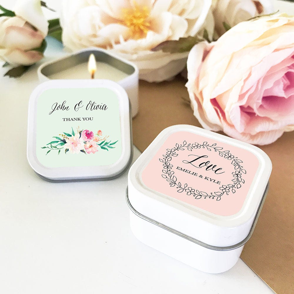 Bridal Shower Favors Personalized Candles Wedding Favors