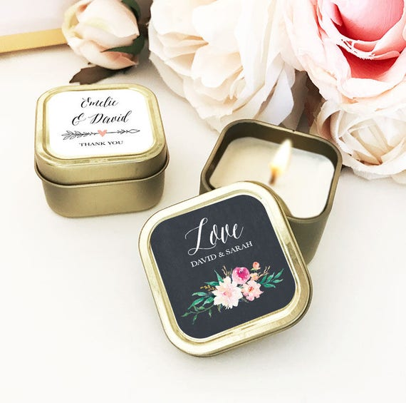 Wedding Gifts List Ideas: Gold Wedding Favors Custom Candle Wedding Favors Personalized
