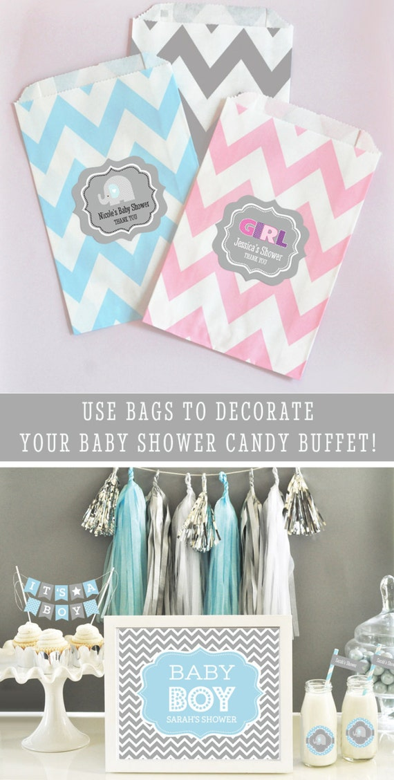 Baby Shower Candy Buffet Bags Baby Shower Goodie Bags Baby Etsy