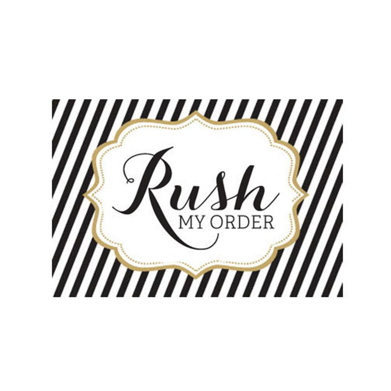 Rush Processing Fee - Speeds Up Processing Time Only (RUSH) photo