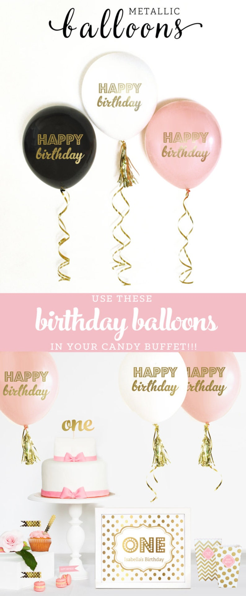 Birthday Balloons Happy Pink And