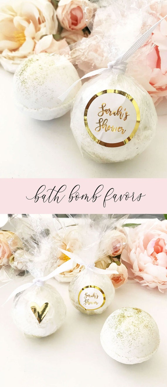 Bath Bomb Favors Bridal Shower Favors Personalized Bridal Etsy