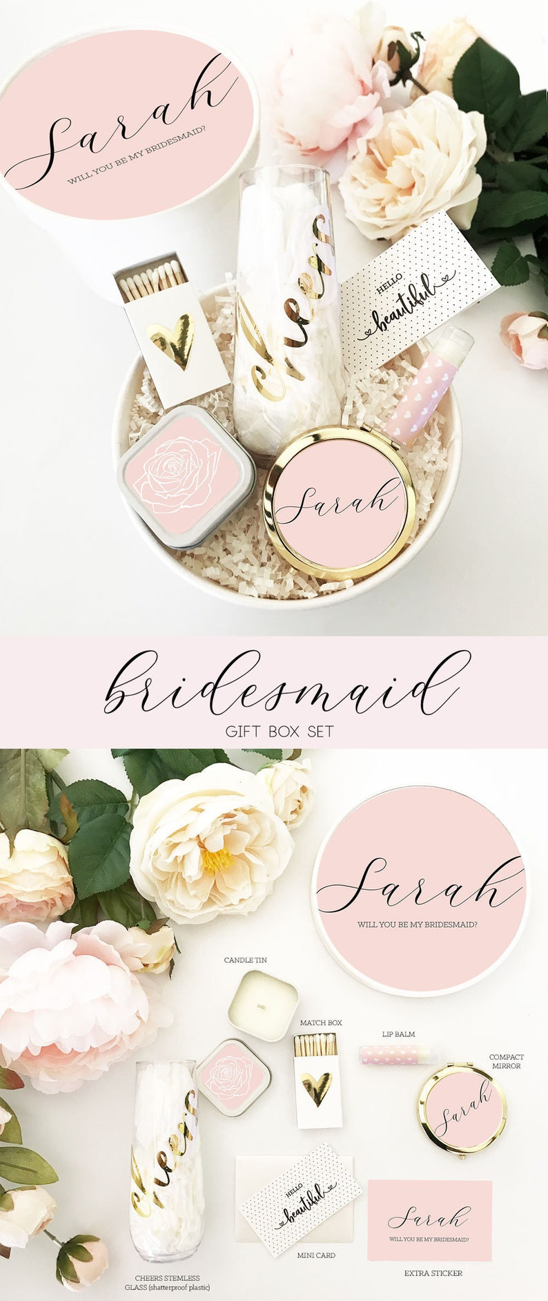 Pink Bridesmaid Box Blush Bridesmaid Proposal Will You Be My Bridesmaid Box Set Eb3250ad Bridesmaid Gift Box Set Bridesmaid Gift Ideas