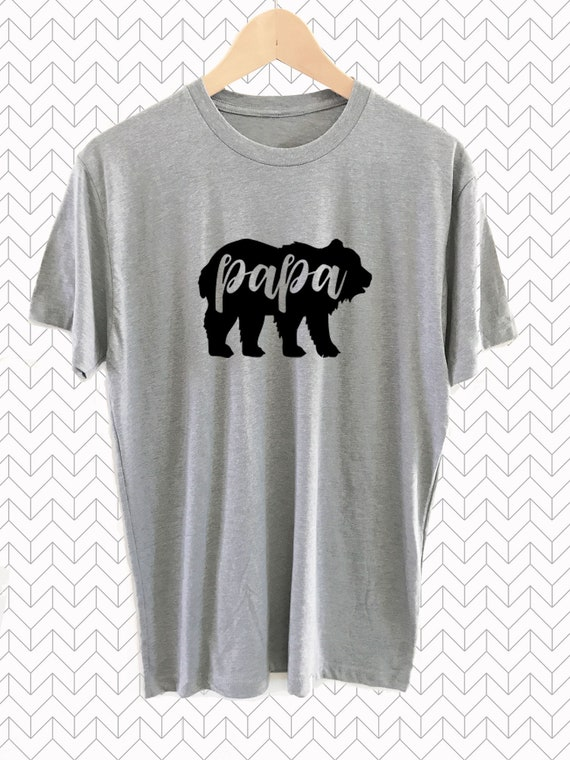 Papa Bear Shirt For Dad Fathers Day Tshirt Gift Ideas Birthday EB3248PBR