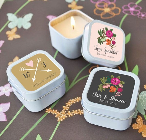 Floral Wedding Favors Mini Candle Party Favors Country Wedding Etsy