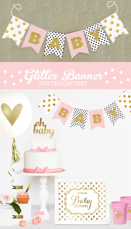 4054369cb Personalized Baby Shower Banner Custom Baby Shower Banner