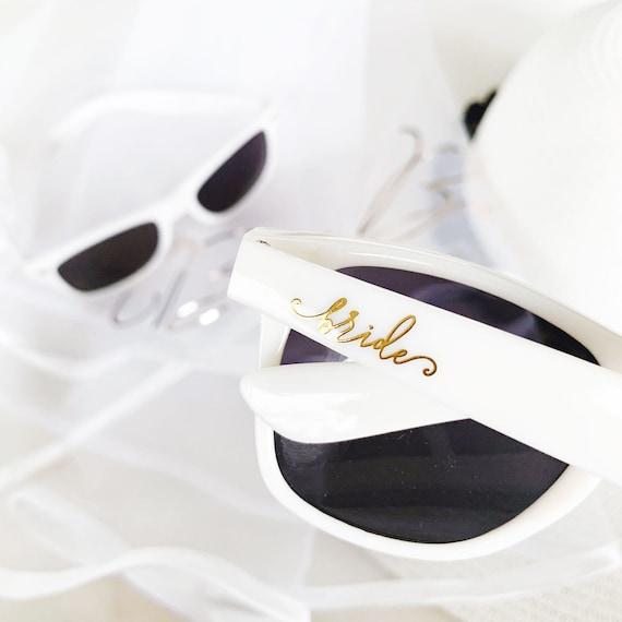 EB3217BRD White Bride Sunglasses Bride Sunglasses Bridal Shower Gift for Bride Bachelorette Party Gift Bachelorette Sunglasses