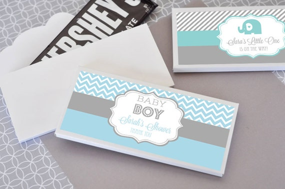 Boy Baby Shower Favors Boy Baby Shower Candy Bar Wrappers