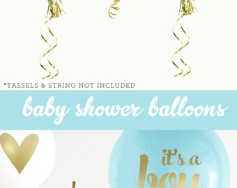 Unique Baby Gift - Unique Baby Boy Gifts - Unique Baby Gift Boy Unique Baby Boy Gift Shower Boy Baby Shower (EB3110BBY) - SET of 3 Balloons