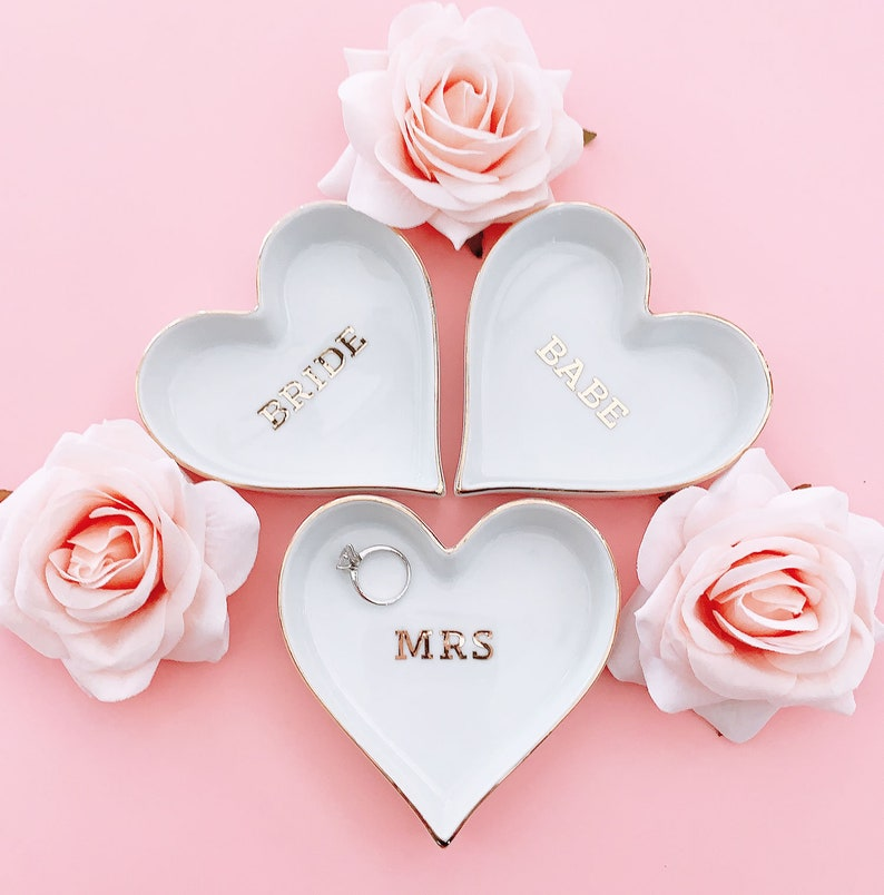 Mrs Ring Dish Bride Wedding Gifts for Bride Bride Gift Ideas image 0