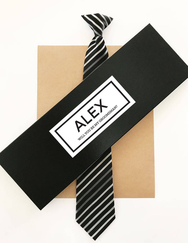 Groomsman Tie Box Tie The Knot Gift Box For Mens Tie Groomsmen Gift Box Groomsmen Thank You Gift Box Eb3245gm Personalized Empty Tie Box