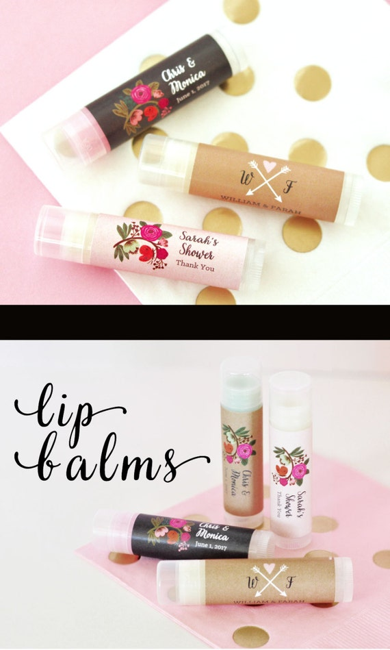Personalized Wedding Favor Chapstick Personalized Bridal Etsy