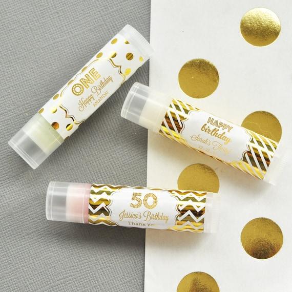 50th Birthday Party Favors Lip Balm Unique