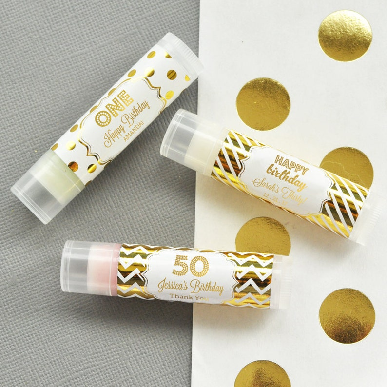 50th Birthday Party Favors Lip Balm Unique