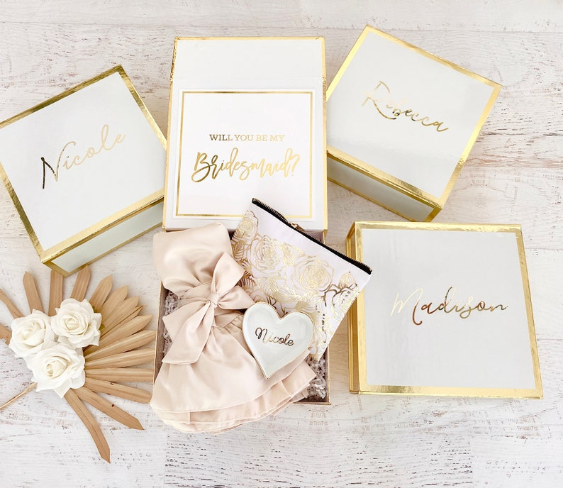Bridesmaid Box Personalized Bridesmaid Gift Box Wedding image 1