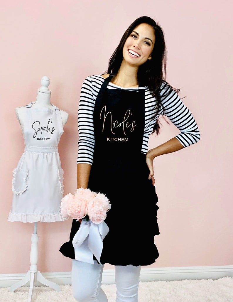 Personalized Apron for Women Aprons Personalized Custom Aprons image 0