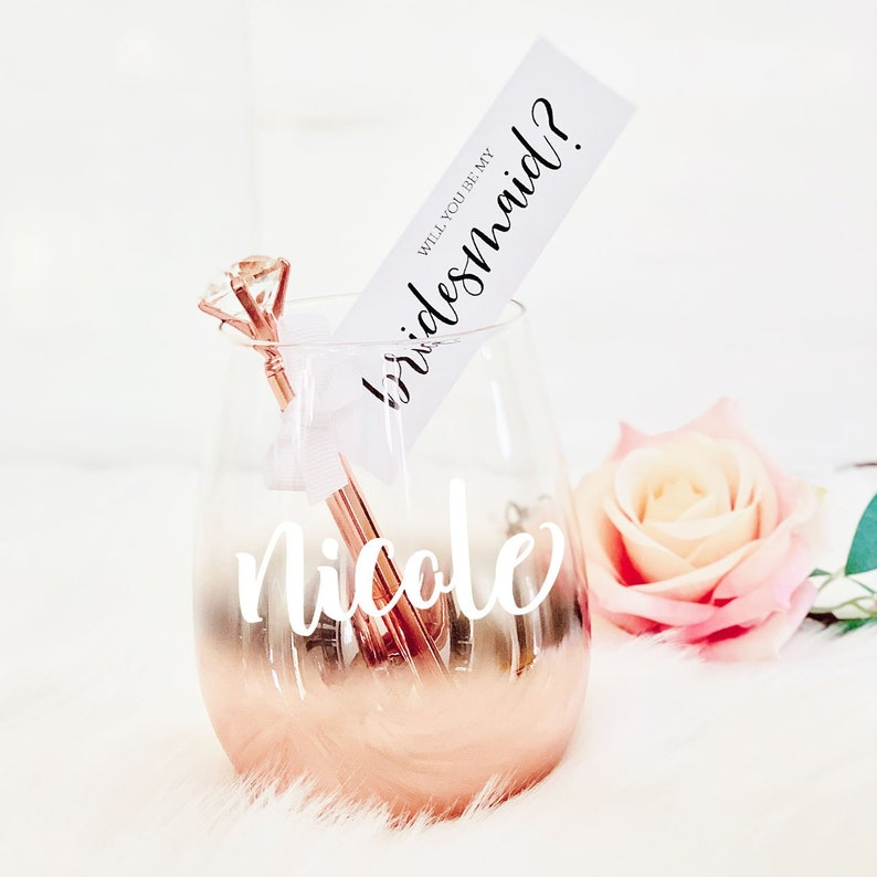 ROSE GOLD Bridesmaid Gift Proposal Ideas Bachelorette Party image 0