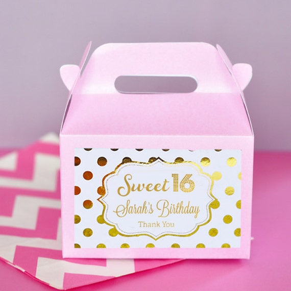 Sweet 16 Party Favors Boxes Sweet 16 Birthday Favors Sweet Etsy
