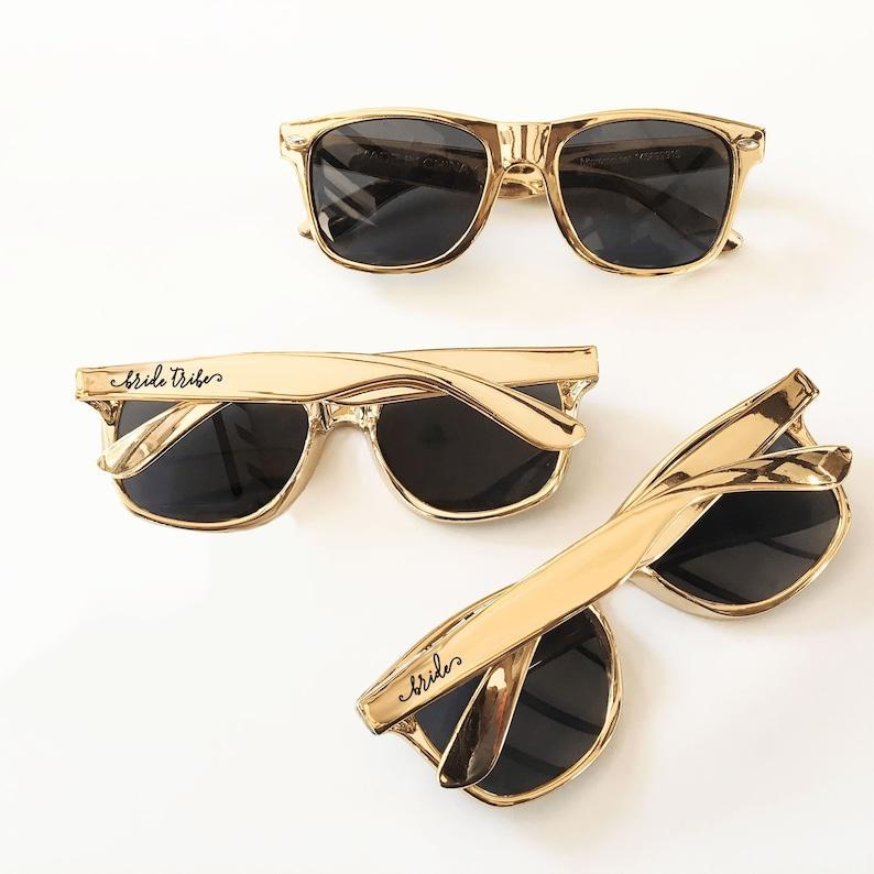 Gold Sunglasses  Bachelorette Sunglasses  Bachelorette Party image 1