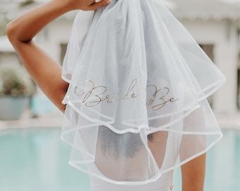 Bachelorette Party Veil Bride Veil Bachlorette Veil Bride Veil Hen Party Veil Bridal Shower Veil Bride to Be Veil   (EB3296BTB)
