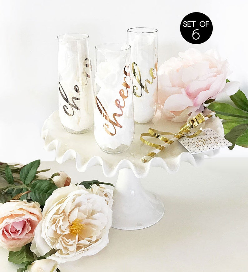 Plastic Cheers Bachelorette Glasses Cheers Champagne Flutes Etsy