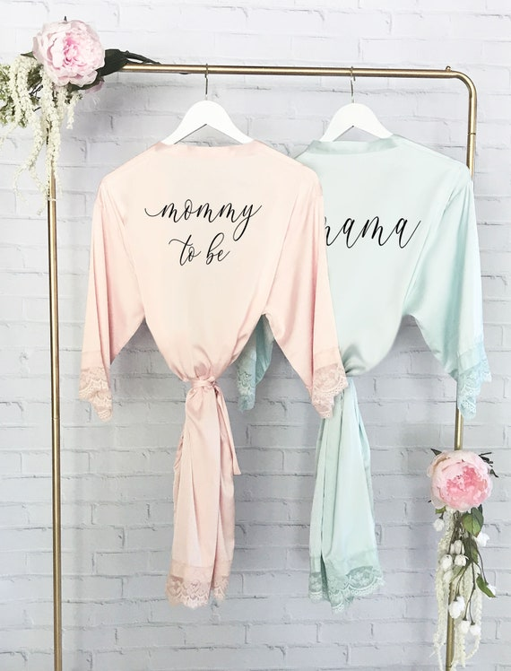 6340ac13b Baby Shower Gift for Mom to Be - Maternity Robe - Nursing Robe - Robe For  Delivery - Hospital Gown Mommy To Be Gift Maternity Gown (EB3260P)