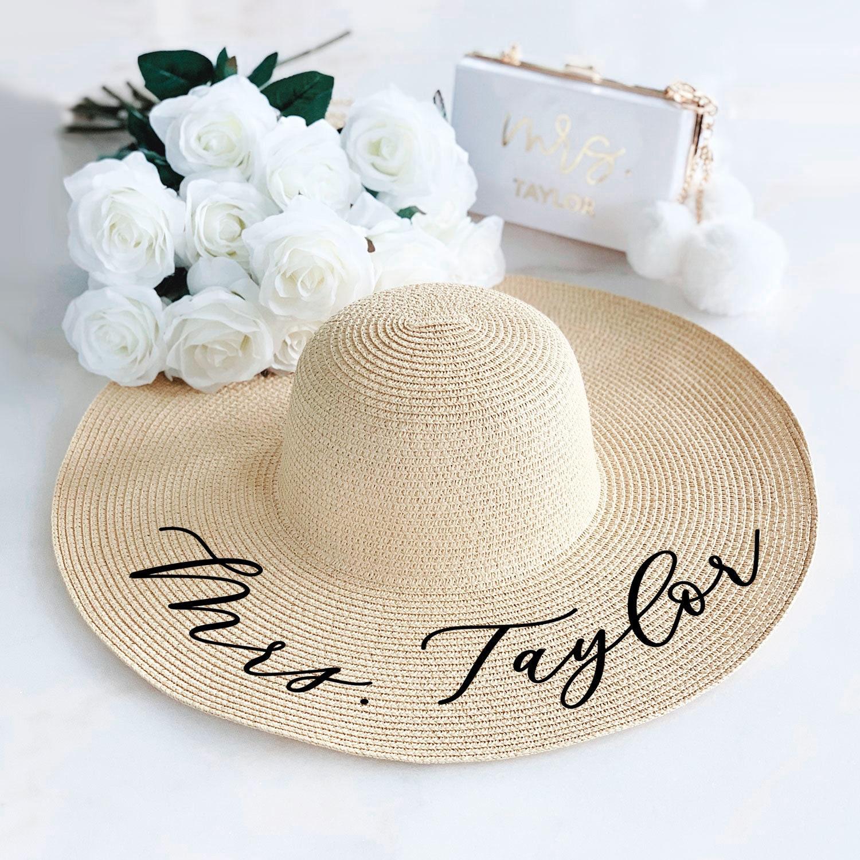 Floppy Hat Monogrammed Floppy Hat Summer Hat Personalized Floppy Hat Gift Birthday Gift Beach Hat Orange Floppy Hat