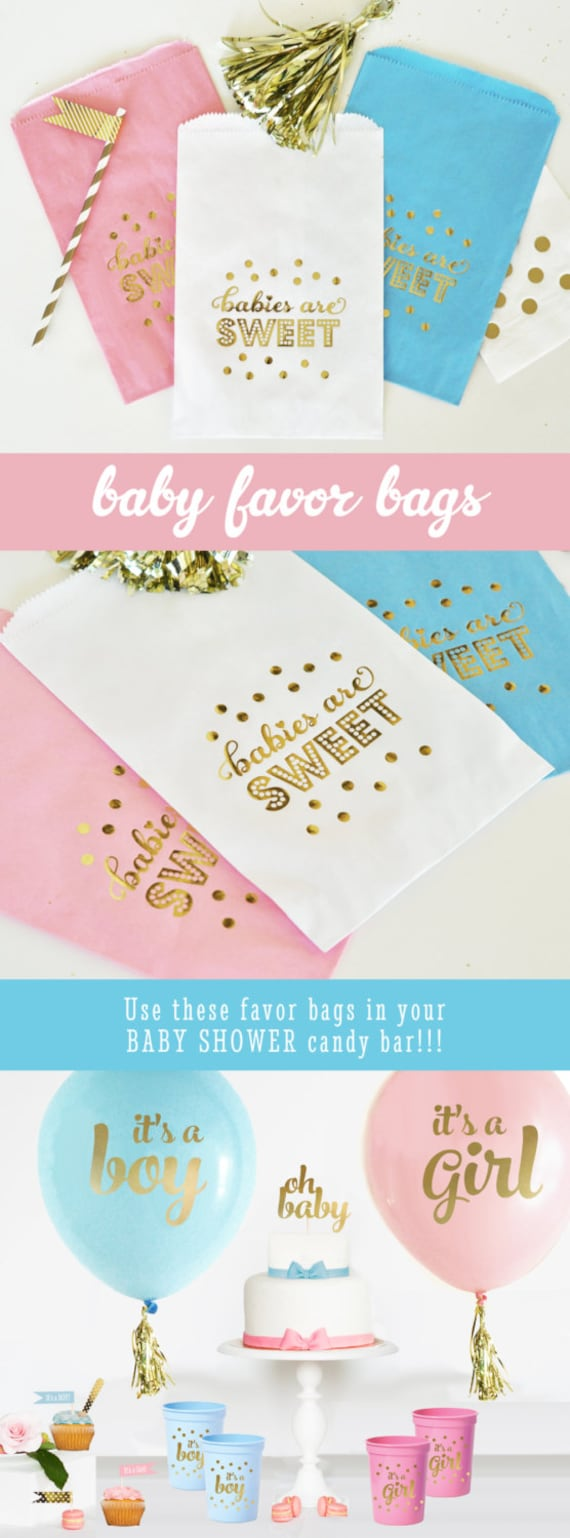 Baby Shower Candy Bags Baby Shower Favor Bags Baby Shower Etsy