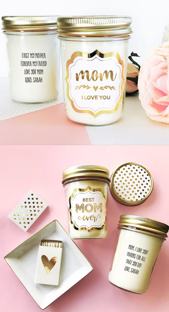 Mom Birthday Gift First My Mother Forever Friend Candle