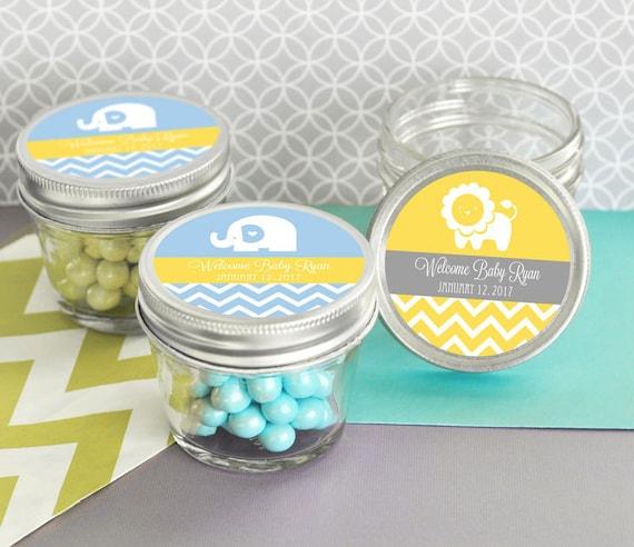 Boy Baptism Favors For Boys Personalized 4 Oz Mason Jar For Etsy
