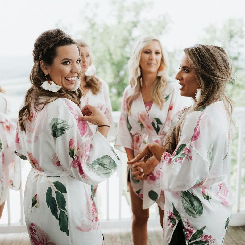 Floral Bridesmaid Robes Boho Robe Boho Bridesmaid Robes Floral image 0