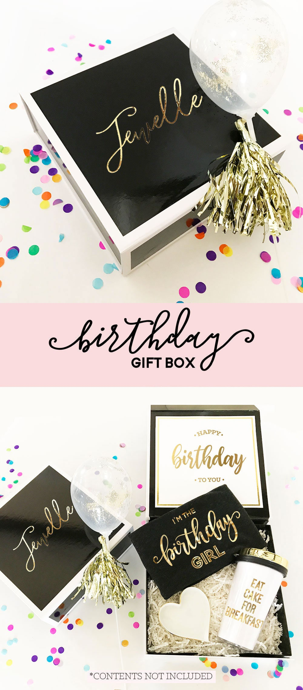 Birthday Gift Box Basket Ideas Personalized