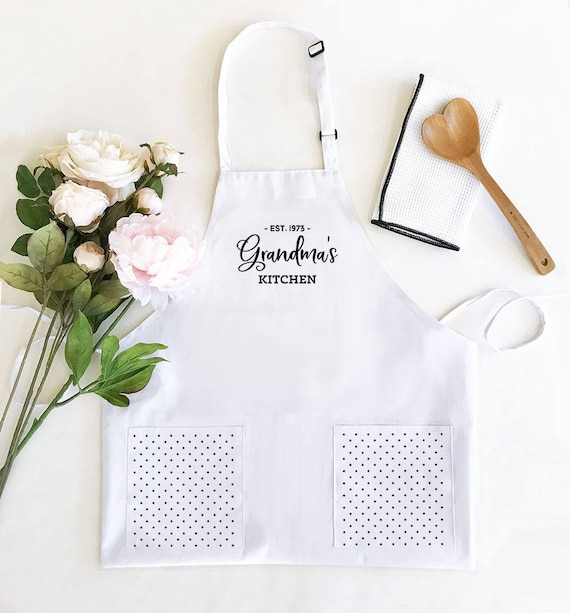 Grandma Gift Personalized Apron Grandmother Birthday